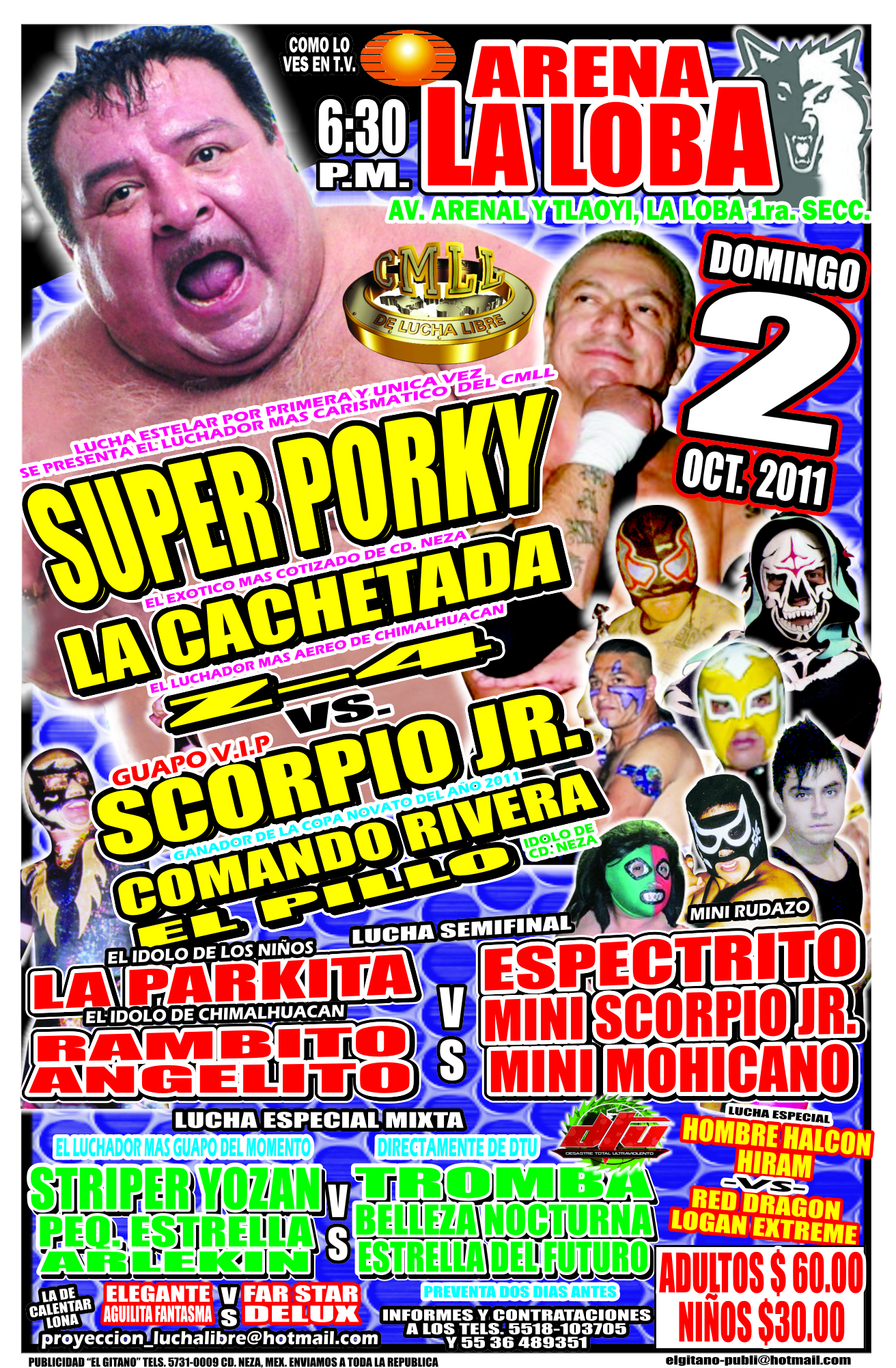 Lucha Libre en la Arena Loba el próximo domingo 2 de Octubre 5