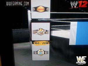 """WWE Women's Championship, WWE Hardcore Championship y wCw Championship en """"WWE '12″ / WWEGaming.com"""