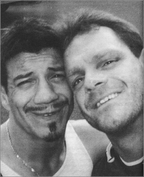 Eddie Guerrero y Chris Benoit (q.e.p.d.) Eddie Guerrero a Chris Benoit