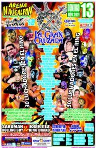 La Gran Cruzada, 30 gladiadores sobre el ring de IWRG este 13 de noviembre 2