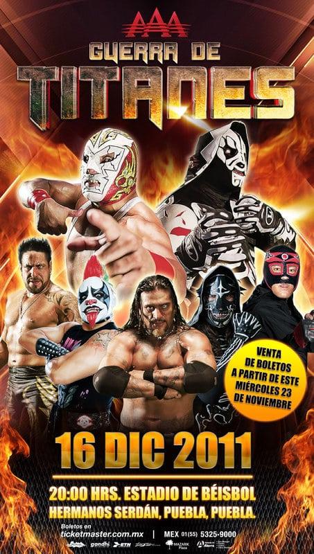 """AAA Guerra de Titanes 2011 (Cobertura y Resultados 16 de diciembre de 2011) - LA Park vence a Dr. Wagner y es el nuevo Campeón Latinoamericano AAA - Los luchadores del """"Consejo"""" toman AAA / #SLGuerradeTitanes 2"""