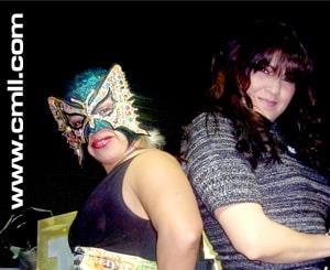 Las Ladies de Polanco (Princesa Sugehit y Princesa Blanca), primero compañeras, posteriormente rivales / Imagen by www.cmll.com