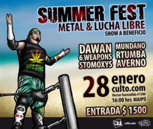 CLL - Chile: El Máximo show de Lucha Libre y Metal del Verano 1