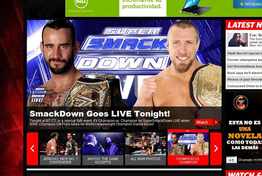 WWE SmackDown será en vivo esta noche - Anunciada una lucha Campeón vs Campeón 1
