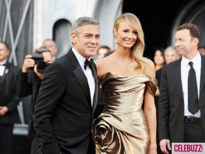 George Clooney y Stacy Kiebler / celebuzz.com