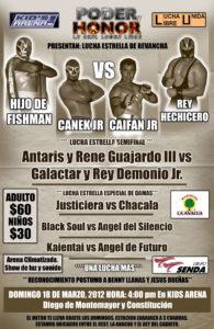 Gran función de Lucha Libre independiente el próximo 18 de Marzo en Monterrey 7