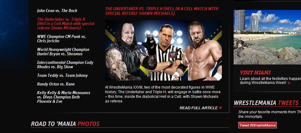 The Undertaker vs Triple H Hell in a Cell con Shawn Michaels de áritro especial - WWE.com