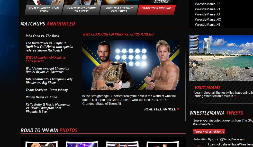 CM Punk vs Chris Jericho - WWE.com