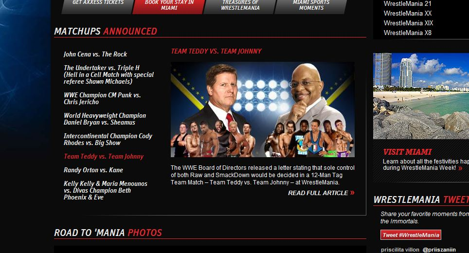 Team Johnny vs Team Teddy - WWE.com