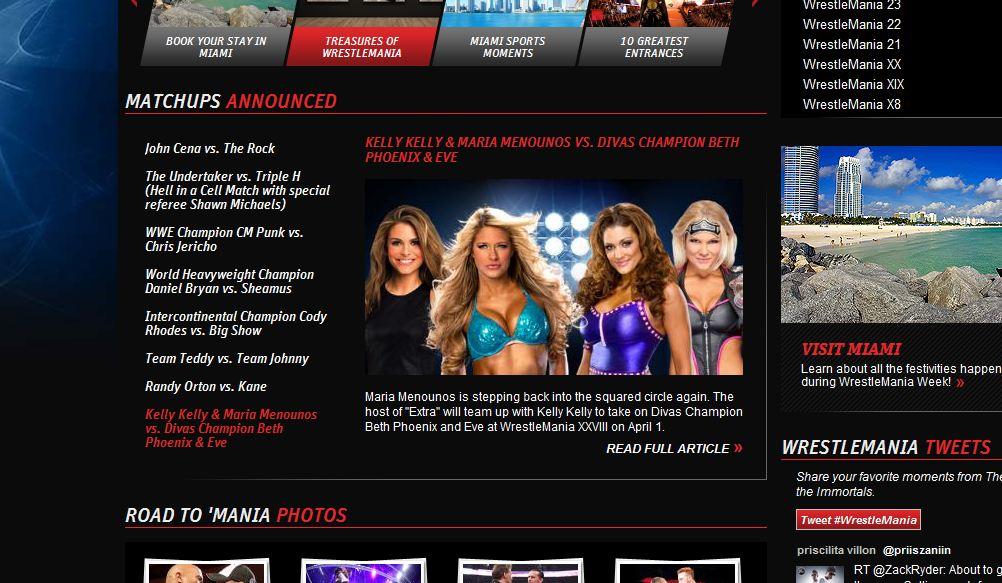 Divas en Wrestlemania -WWE.com