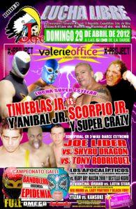 """Cartel Valerie Office para el 29 de abril en el Rodeo """"El Jefe""""."""