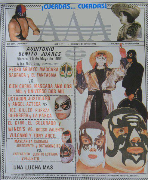 Primer Cartel de AAA, 20 años de Lucha Libre AAA/ imagen Lucha Libre AAA en Facebook