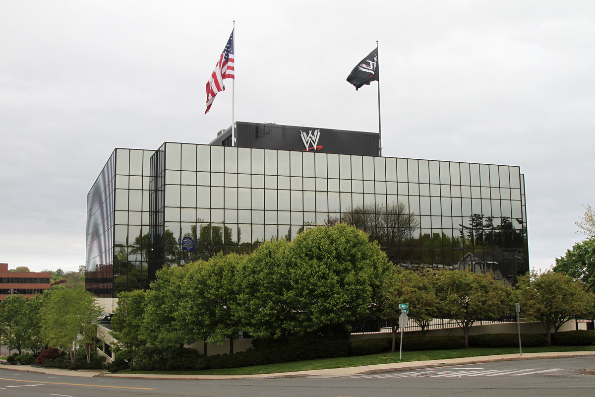 Titan Towers de WWE (1241 East Main Street en Glenbrook, Stamford, Connecticut) / Photo by: John O'Neill (jjron) 02/05/2012