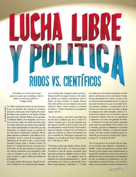 Lucha Libre y Politica / Revista Súper Luchas edición No. 467