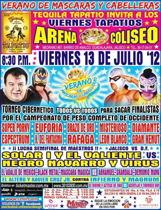 Inicia el Verano de Máscaras y Cabelleras en la Arena Coliseo GDL a partir del 13 de julio 23
