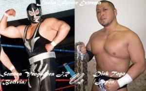 Sombra Vengadora Jr. (Bolivia) y Dick Togo (Japón)
