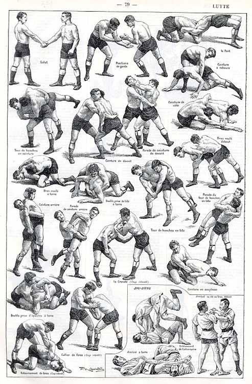 El arte de la Lucha Libre (Grabado, principios s. XX, autor desconocido)