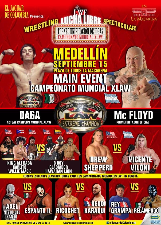 LWF - Torneo Unificación de Ligas - Medellín (15 de septiembre de 2012)