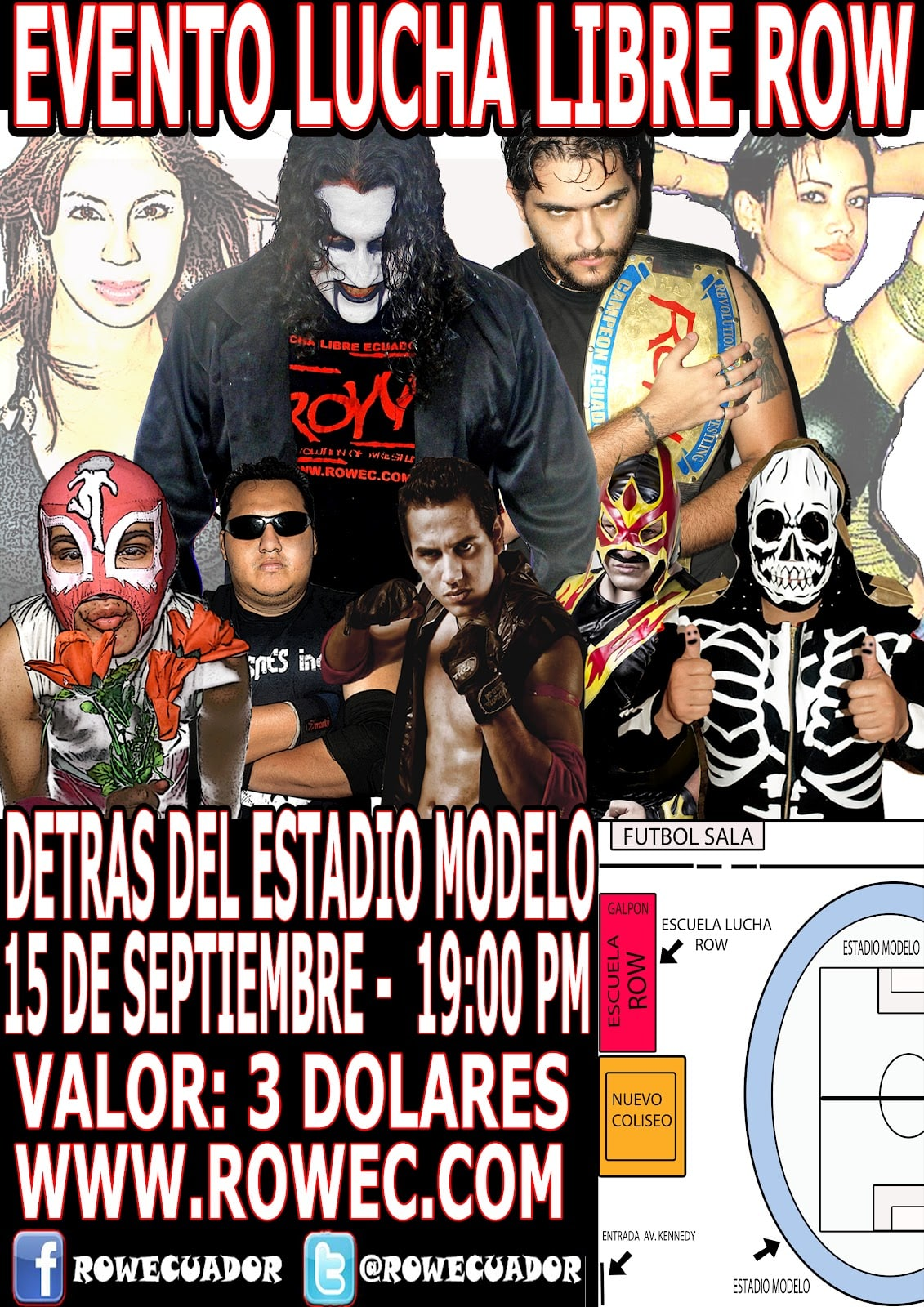 """Evento: ROW Ecuador """"House show 15 de Septiembre"""" 1"""