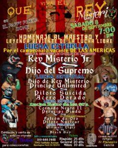El Pappy Pineda Dome: Homenaje al Maestro Rey Misterio - Sábado 8 de septiembre