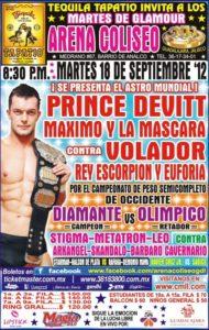 Prince Devitt en Guadalajara el próximo martes 18 de septiembre 10