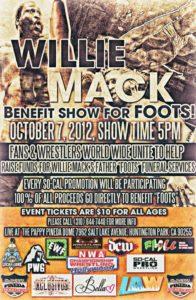 Función a Beneficio de Willie Mack - 7 de octubre de 2012