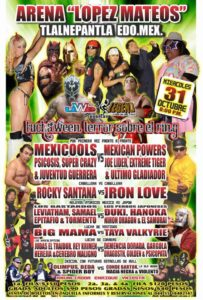"Mexicools vs. Mexican Powers en ""Luchaween Terror Sobre El Ring"" (31/Oct) 7"