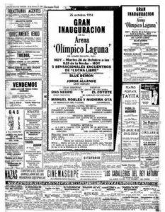 """58 Aniversario """"Arena Olimpico Laguna"""""""