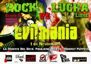 """ROW ECUADOR: Evilmania """"rock y lucha libre"""" 12"""