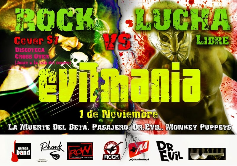 """ROW ECUADOR: Evilmania """"rock y lucha libre"""" 1"""