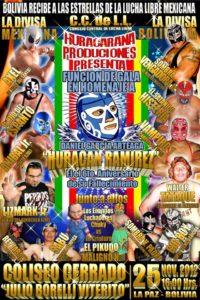 Función de Gala en Homenaje a Huracán Ramírez (Bolivia - noviembre 25 de 2012)