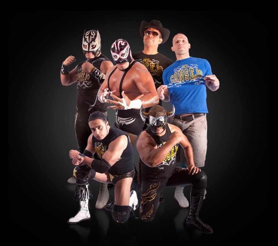 El Consejo (Argos, Texano Jr., Silver King, Máscara Año 2000 Jr., Semental y Toscano) / Imagen by www.luchalibreaaa.com