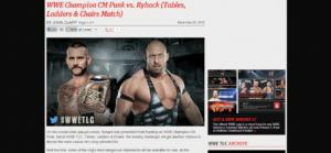 WWE.com confirma el combate entre CM Punk y Ryback por el Campeonato de la WWE 1
