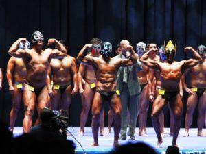 Imagen: Relámpago en el VII Concurso de Fisicoculturismo del CMLL 2