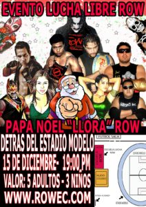 """ROW ECUADOR: Evento """"Papa Noel llora"""" 11"""