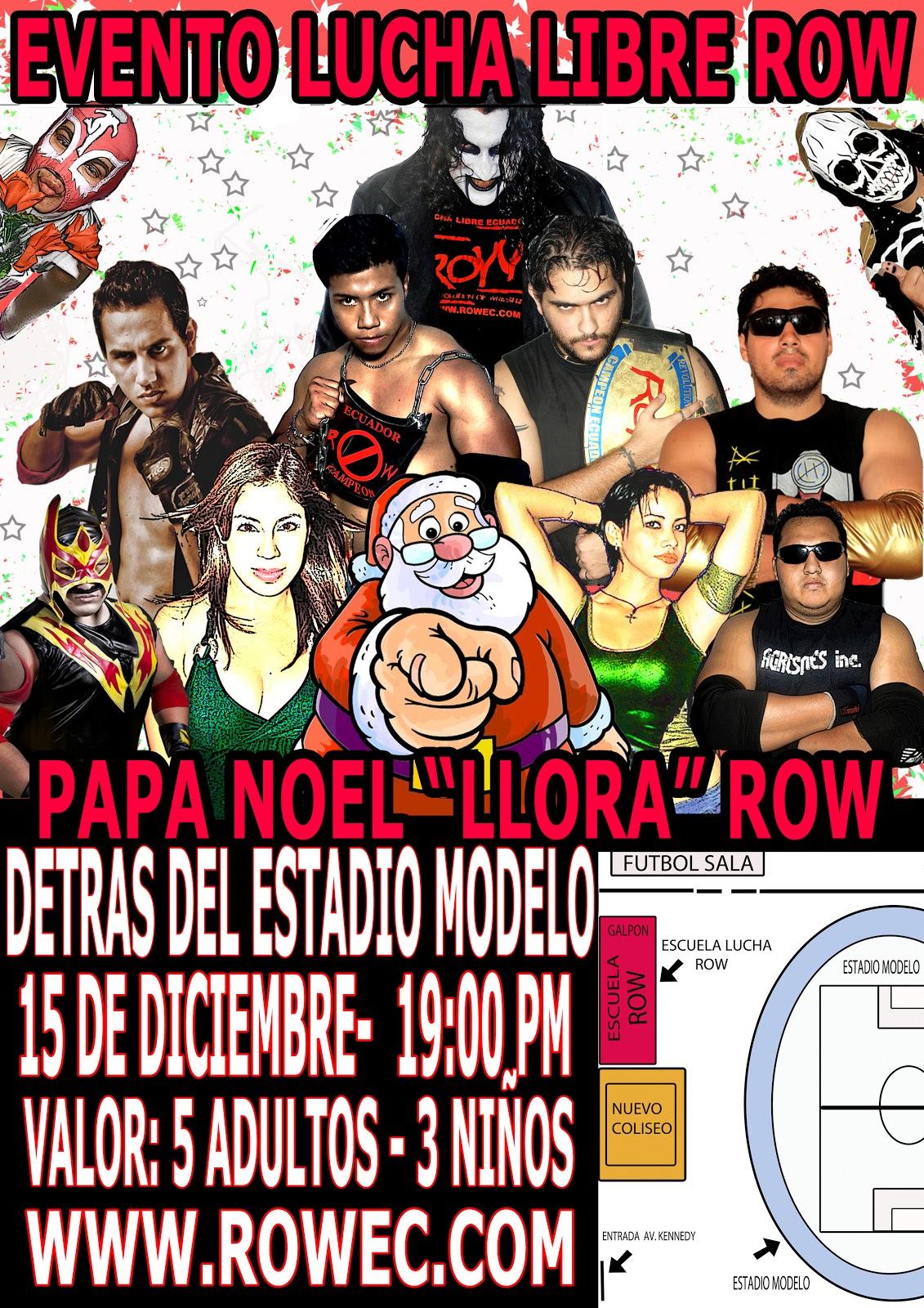 """ROW ECUADOR: Evento """"Papa Noel llora"""" 1"""