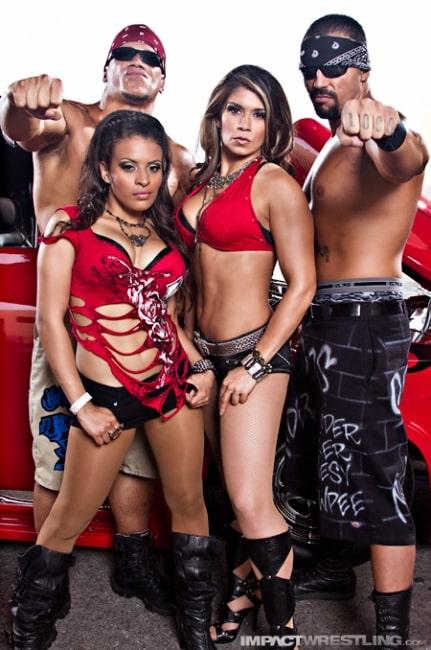 Mexican America (Rosita, Sarita, Hernández y Anarquía) / Photo by: Lee South - iMPACTWrestling.com