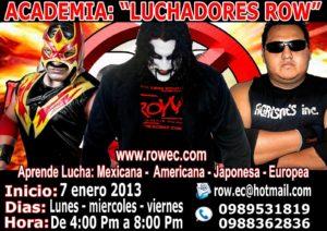 ROW Ecuador: Abierta escuela lucha libre ROW 9