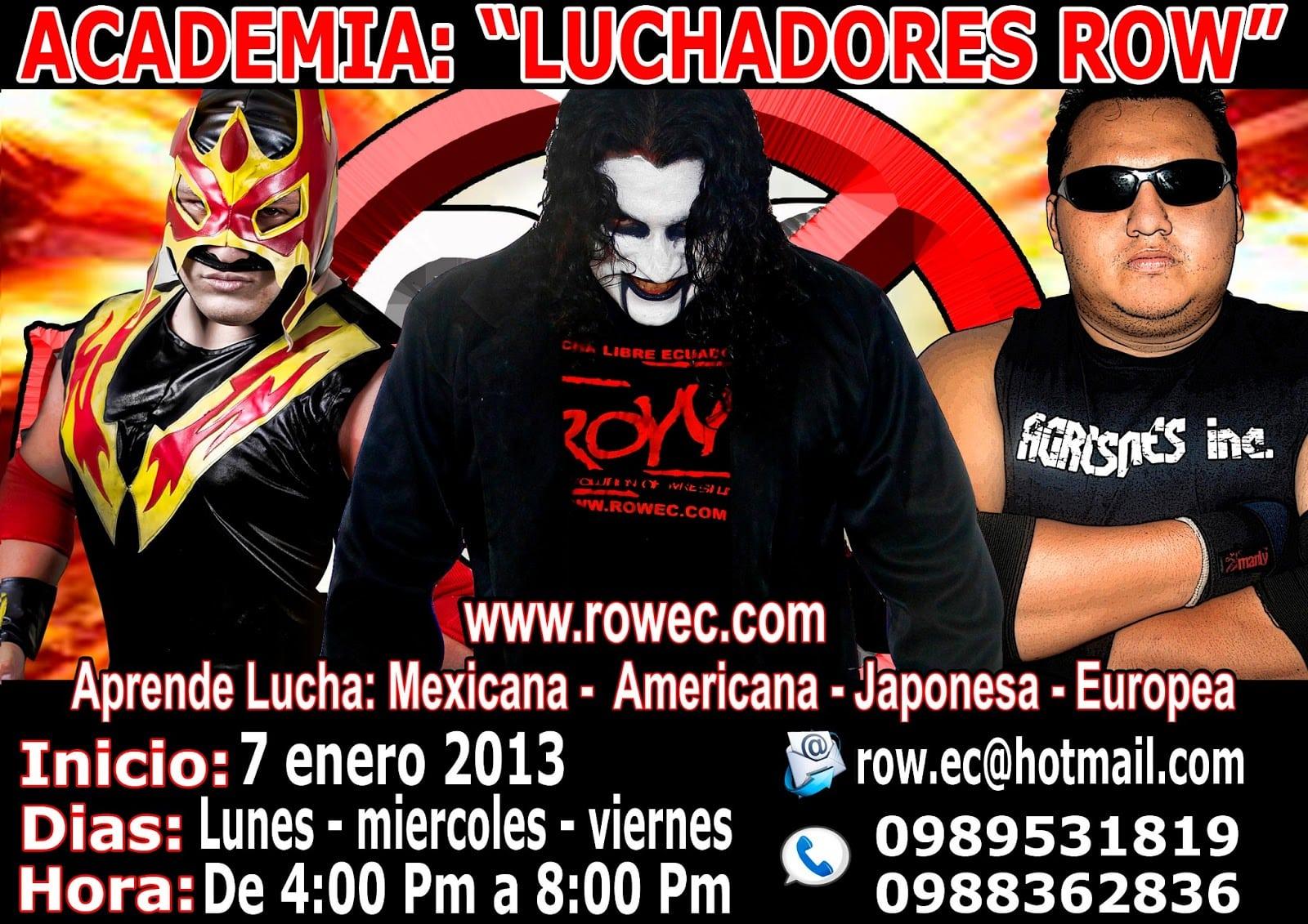 ROW Ecuador: Abierta escuela lucha libre ROW 1