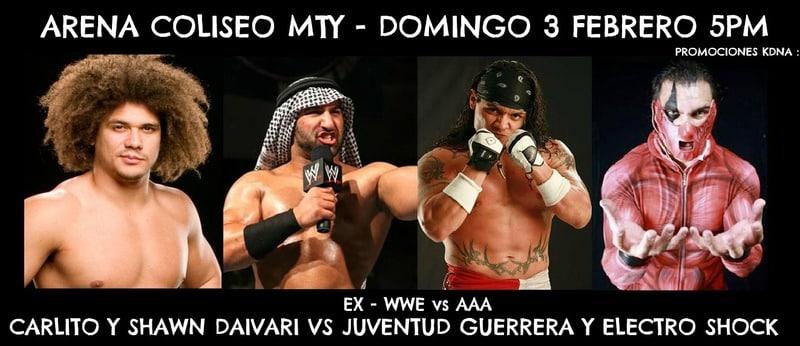 Carlito y Shawn Daivari vs. Juventud Guerrera y Electroshock / Arena Coliseo de Monterrey - 3 de febrero de 2013