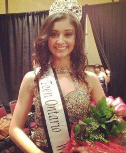 Bianca Carelli, hija de Santino Marella, Miss Teen Ontario 2013 (20/1/13) / Facebook.com/missteenontario2013