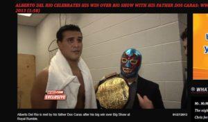 Dos Caras y Alberto del Río / WWE Royal Rumble 2013 - 27 de enero / Captura de pantalla por Dement X-treMEX 187 - www.wwe.com