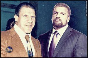 Bruno Sammartino (WWE Hall of Famer 2013) y Triple H / WWE.com ©