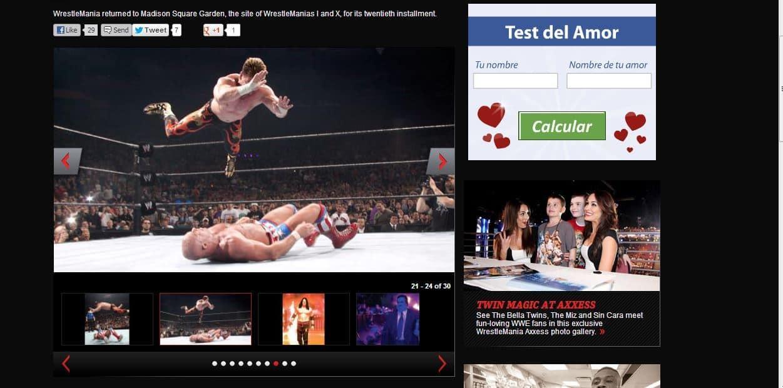 Eddie Guerrero aplicando Frog Splash a Kurt Angle|wwe.com