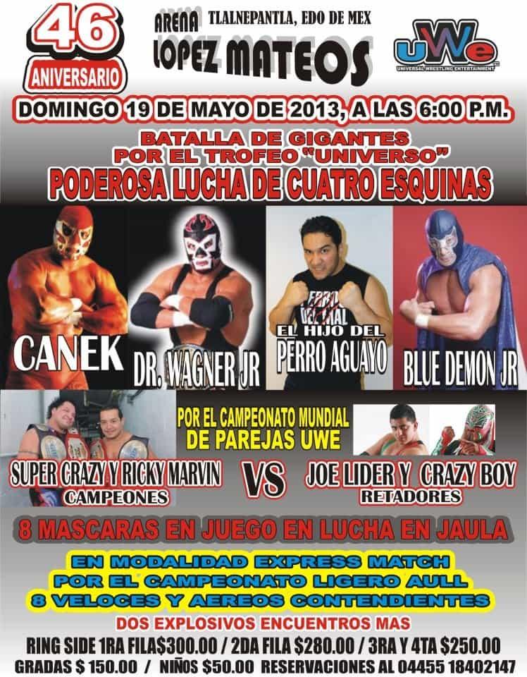46 Aniversario de la Arena López Mateos / 19 de mayo de 2013 / Image by UWE AULL ARENA LOPEZ MATEOS en Facebook