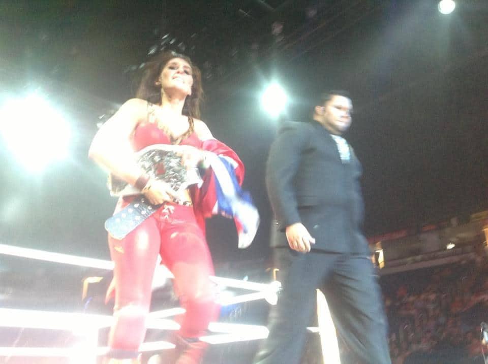 Ivelisse Vélez Nueva PWR World Women's Champion tras vencer a Alissa Flash en WWL Idols of Wrestling (21/4/13) / Facebook.com/luchalibreonline