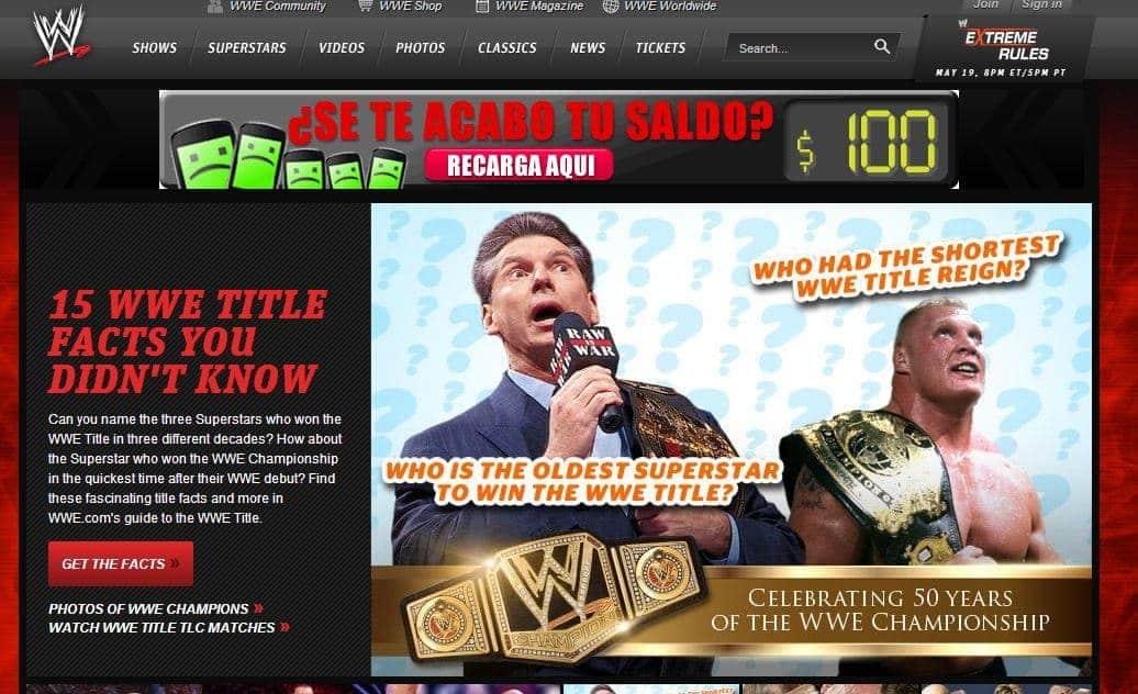 15 datos curiosos del campeonato de la WWE que no conocías|wwe.com