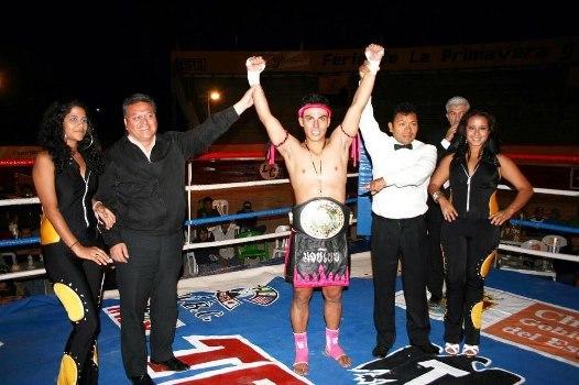 """Zeus """"El Destructor"""" González / Imagen cortesía de la Comisión Nacional de Kick Boxing"""
