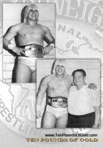 Existen pocas fotos de Tommy Rich con el título NWA, pues su reinado sólo duró 96 horas / Tenpoundsofgold.blogspot.mx