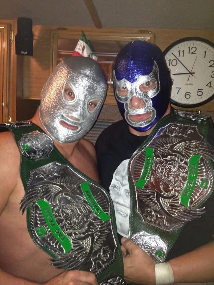 El Hijo del Santo y Blue Demon, Jr. nuevos Campeones en Pareja PWR - Pro Wrestling Revolution (11/5/13) / Facebook.com/HijodelSanto.Oficial